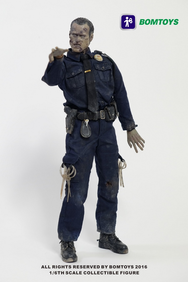 BOM TOYS  1/6 scale figure Officer Zombie The Walking Dead 12