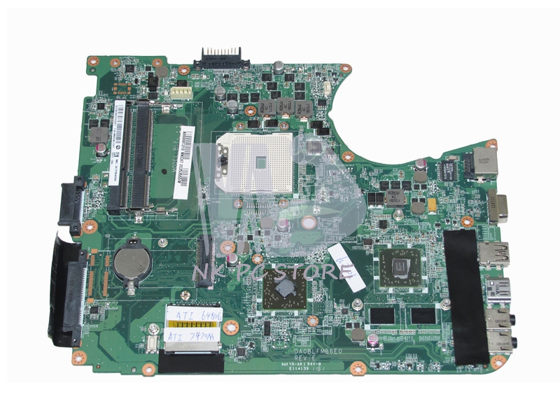 NOKOTION A000081310 Laptop Motherboard For Toshiba Satellite L750D L750 L755D Socket fs1 DDR3 DA0BLFMB6E0 ATI 7400M Video Card wzsm new laptop lcd cable for toshiba satellite l750 l750d l755 l755d video flex cable dd0blblc000 dd0blblc040