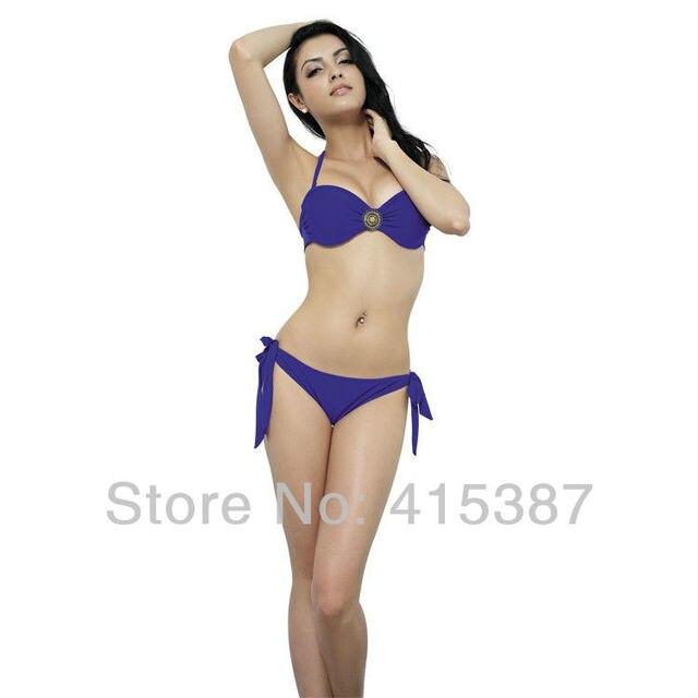 Free Shipping 2013 New Korean Style Sexy Women Female Solid Bikini Swimwear Beachwear, Support Wholesale, YZ-152052