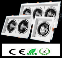 1pcs Super Bright Recessed Square LED Dimmable Downlight COB 10w 20W 30w LED Spot Light LED