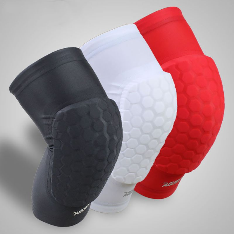 1pc Soft Knee Support Breathable Honeycomb Sponge Pad Gel Brace Basketball Soccer Gym Sport Pad Professional New