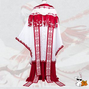 Image 2 - Anime! Spiritpact DuanMuXi Rot Blau Opfer Archaic Priesthood Mantel Kimono Wunderschöne Uniform Cosplay Kostüm Kostenloser Versand