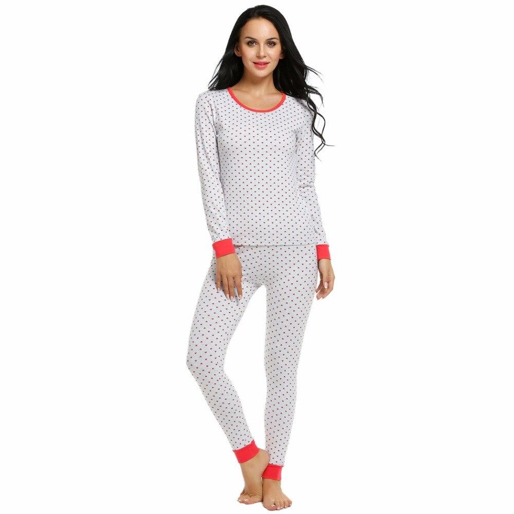 d5f81907066 Ekouaer Sleepwear Pajama Women Pajamas Set Long Sleeve Striped Top and Long  Pants Nightgown Home Clothing Female Sleepwear-in Pajama Sets from  Underwear ...