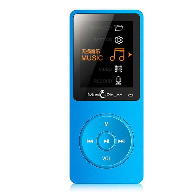 IQQ X02 8GB MP3 Music Player 1.8 Inch Screen 30h lossless sound, Support up to 64GB Micro SD Card Gold Built in Speaker FM Ebook (5)