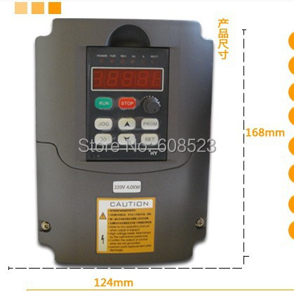 HY04D023B 220V 4.0KW General Variable Frequency Drive VFD Step-up Inverter delta d 023