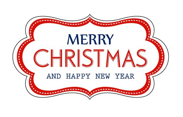 8x44cm merry christmas sticker label - Merry Christmas Stickers