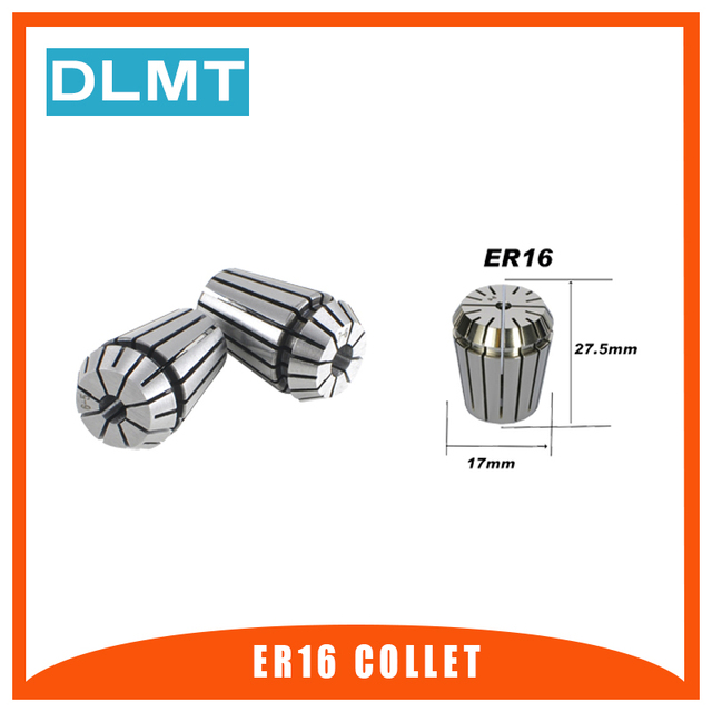 1pcs ER16 1 10MM 1/4  6.35 1/8 3.175 1.5 2.5 3 4 5 6 7 8 9 10mm Spring Collet Set For CNC Engraving Machine Lathe Mill Tool