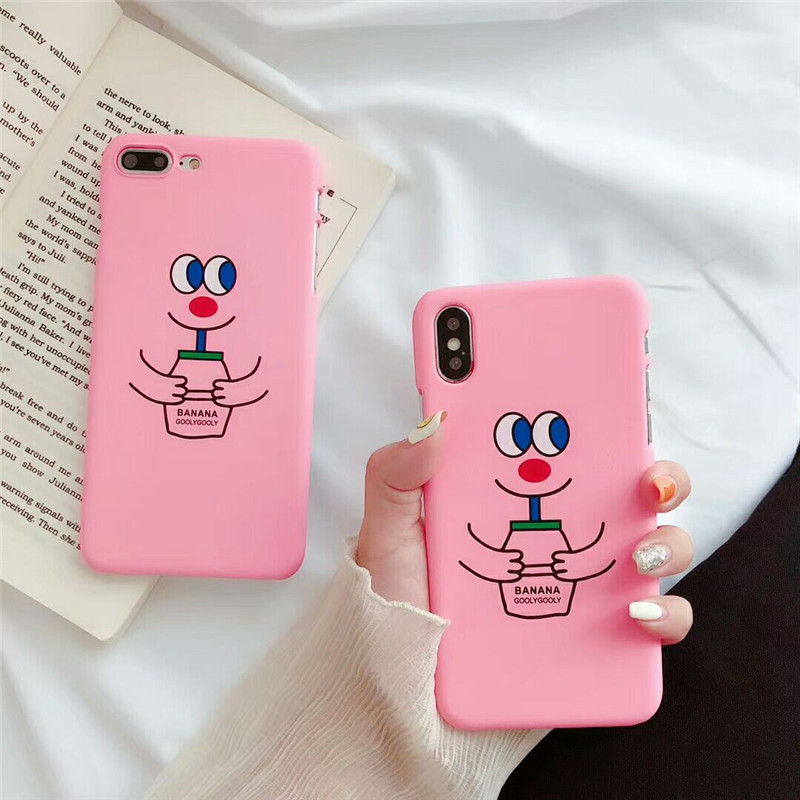 KL-Boutiques Cartoon Case For iphone 5 5s Cases Funny Face Couples