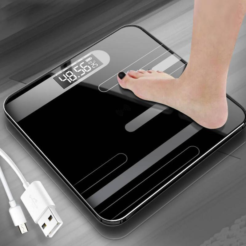 Lcd-Display Measuring Weight Digital High-Scale Bathroom Electronic Mini Recharge