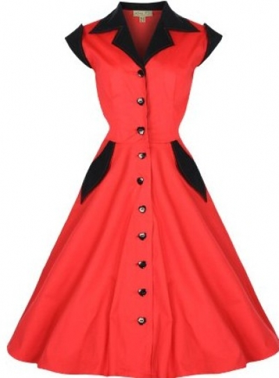 2014 Women Pinup Patchwork 60 S 1950s Dress Vintage Retro