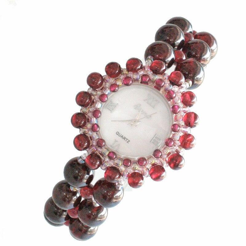 2020 limitée 19 ans de la nouvelle montre pour femme vin naturel rouge grenat Bracelet cadeau bijoux boutique fournitures