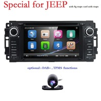 for Dodge Ram Challenger Jeep Wrangler JK Head Unit Single Din 6.2 Touch Screen In dash Radio Receiver Navigation Bluetooth DAB+