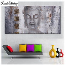 Large mosaic,full,square diy 5d diamond painting buddha black and white,cross stitch,picture rhinestone embroidery FS3077