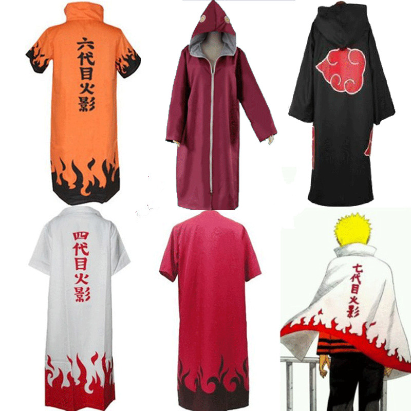 Anime Naruto Uzumaki 4th 6 th 7th Hokage Cosplay Cape ...