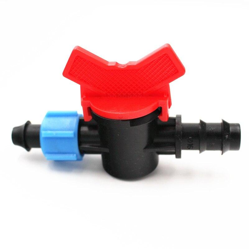 10 stücke Dn16 Barb Sperre Entnahmeventil Mini Ventil Für LDPE Schläuche Driptape Armaturen Tropf Bewässerung Sprinkler Armaturen Y110