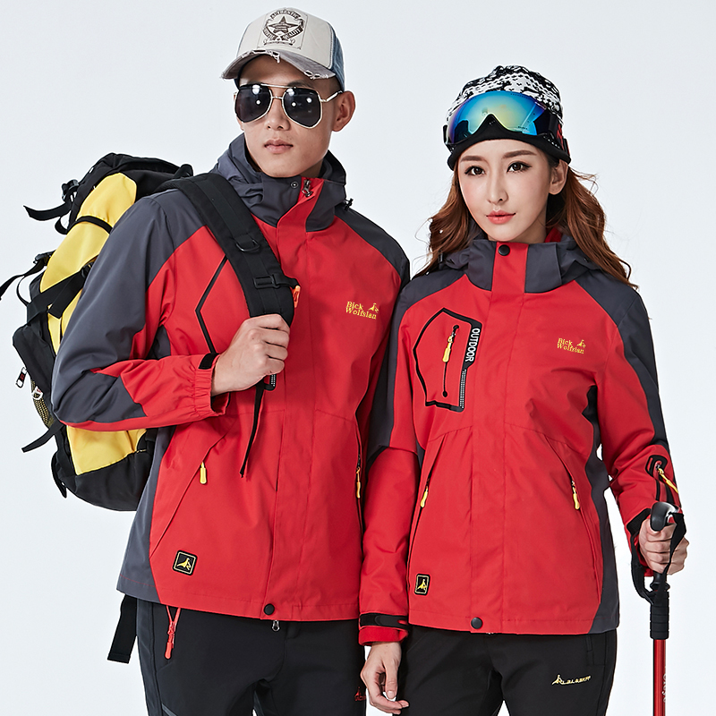 New Lovers Hiking Jackets 2 Pieces Set Men Waterproof Soft Shell Jacket Outdoor Sports Climbing Skiing Couple Windproof Coat dhl free shipping english version ds 7108ni e1 v w embedded mini wifi nvr poe 8ch for up to 6mp network ip camera