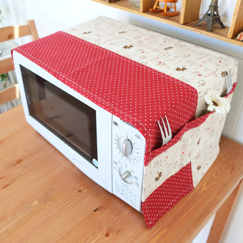 Linen Pachwork Cover Microwave Oven Home Appliance