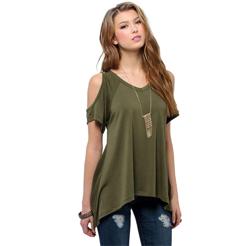 Snowshine 30 Plus Size Women Clothing Sexy Off Shoulder T