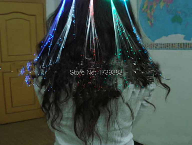 10pcslot Light Up Hair Extension Flash Glowing Led Braidnovelty