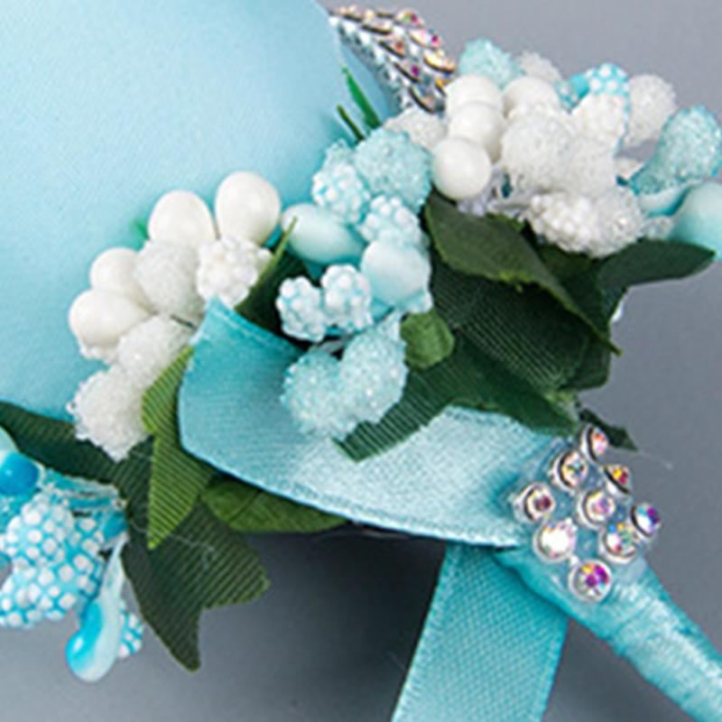 Artificial Flowers Rose Boutonniere Corsage Quinceanera Bridal Groom ...