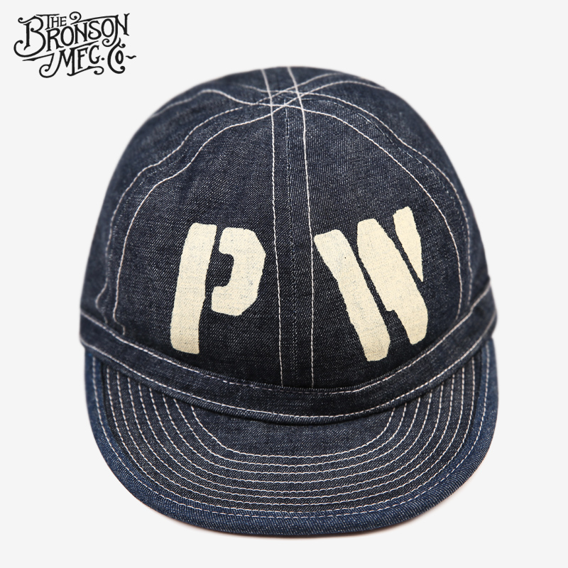 Bronson Vintage Reproduction WW2 CCC PW Denim Cap Prisoner Of War Jean Work Hat