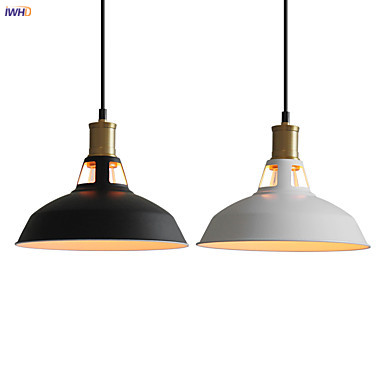 IWHD Loft Industrial Decor Edison Pendant Lamp Dinning Living Room Hanging Lights Retro Vintage Pendant Light Hanglamp Lustre