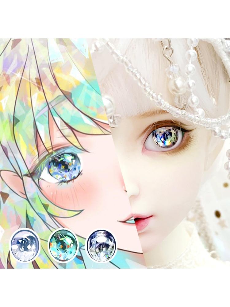 Good Red Iris/&Pupil 10MM Glass Eyes for Joint  AOD DD BJD Dollfie