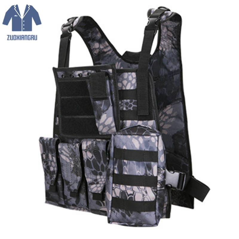 Military Multifunction Tactical Camouflage Uniform Combat Vest Colete Python Chaleco Army Clothing Us Navy Seal Camo Waistcoat