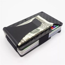 Metal Stainless Steel Carbon Fiber Credit Card Holder Top Quality Men Rfid Blocking Wallet 2018 New Arrivals Card Protector Clip