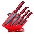 Faca vermelha stand utensílios de cozinha de cerâmica com cerâmica peeler + 3, 4, 5, 6 polegada aparas utility slicing chef facas de cerâmica conjunto faca de cozinha