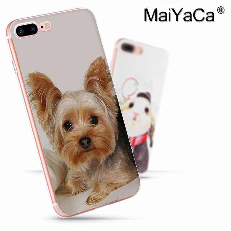 MaiYaCa ヨークシャーテリア犬最新のファッションの高級電話ケースアップル iphone 11 プロ 8 7 66S プラス X 5S 、 SE XS XR XS 最大カバー