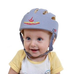 Image 2 - 아기 안전 학습 도보 모자 anti collision 보호 모자 소년 소녀 부드러운 편안한 헬멧 머리 보안 보호 조절 가능