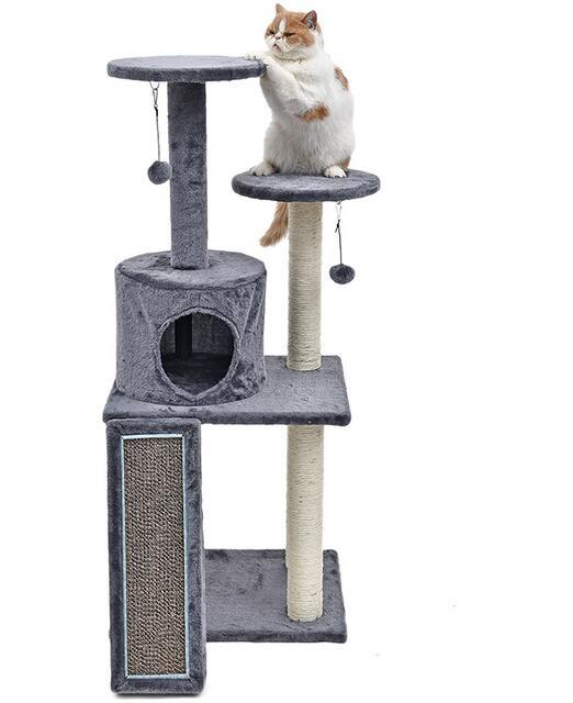 gray Cat tree condo 5c64f1af27978