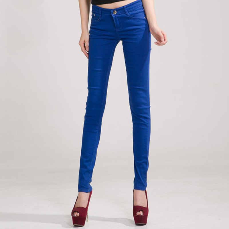 cd1fe6b8e59 ... HEE GRAND Для женщин экстравагантные штаны 2018 зауженные джинсы  женские штаны карандаш со средней посадкой ...