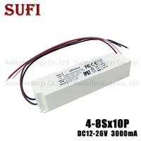 LED Driver 40W 50W 60W 70W 80W 100W 3000mA AC 85 277V To DC 12 26V Plastic Case Adapter Lighting Transformer for DIY LED Lamp