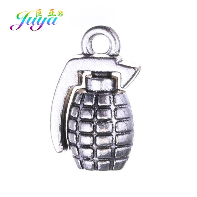Juya 10 sztuk hurtownie tybetański srebrny kolor granat urok wisiorek dla rękodzieło moda akcesoria do wyrobu biżuterii dostaw