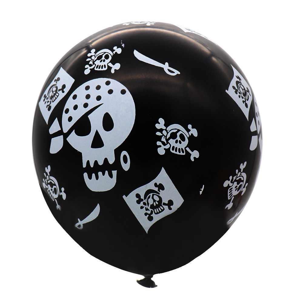 10 шт. 12 дюймов череп латексные воздушные шары Хэллоуин Пиратская воздушная Пиратская тематика День Рождения украшения Набор детских игрушек черные баллоны