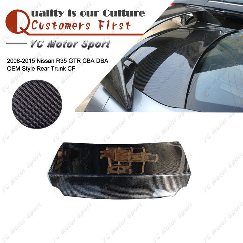 Car Accessories Carbon Fiber OEM Style Trunk Bootlid Fit For 2008-2015 R35 GTR CBA DBA Rear Trunk Boot Lid Tailgate