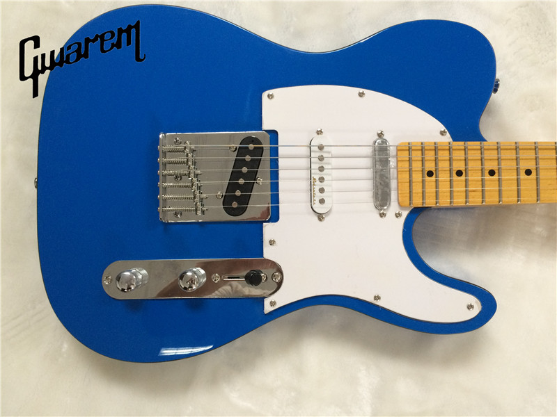 Electric Guitargwarem Luck Star Tele Guitarblue Color3 Pickups
