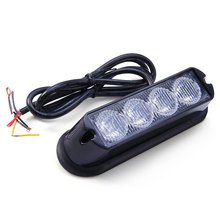 New Car Truck Emergency Strobe Flash Light Auto Warning Lights with Amber White Light Water Resistant Safe for Exterior Mounting