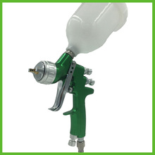 цены SAT1164 high quality diy silver mirror chrome paint gun spray hvlp gun nozzle 1.4 hvlp air paint spray gun for car