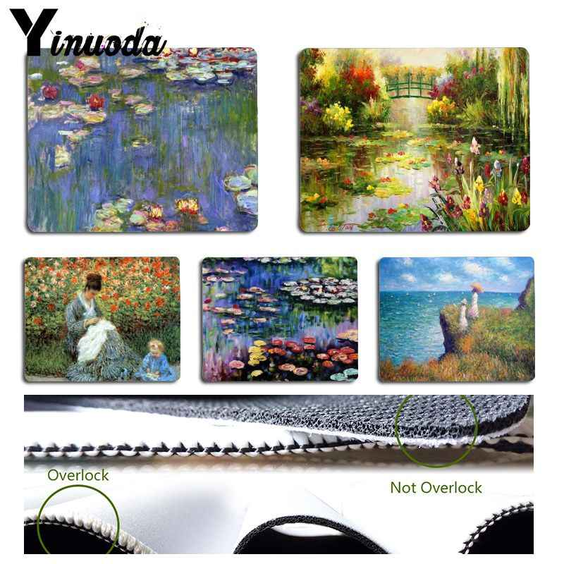 Yinuoda Claude Monet Garden Lotus Mouse pad PC Computer mat Size for 180x220x2mm and 250x290x2mm Small Mousepad