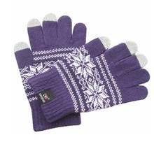 Autumn and winter Men and women full finger Fashion touch wool knited keep warm Gloves & Mittens K029