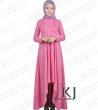 2015 Muslim cotton abaya islamic clothes for women dubai/pakistan fashion girls djellaba abaya long dresses KJ