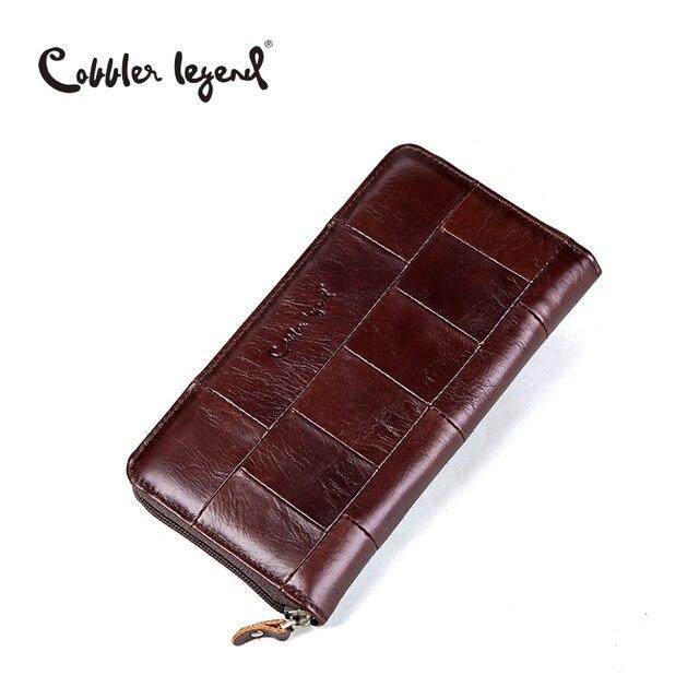Cobbler legend марка дизайнер повседневная женщины кошелек из натуральной кожи долго бумажник для дамы монета карты кошельки для женщин кармана монету