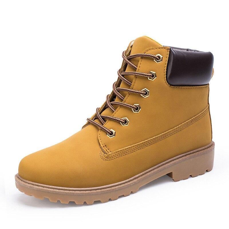 Plat jaune Noir Garder Talon De Hot New Mode Marque Chaussures Homme Hiver Cheville Au marron Bottes Hommes Chaud FTTXAZx