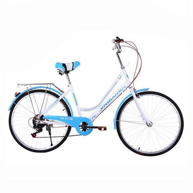 Us 1650 7 Velocità 24 Pollice Ruote Di Biciclette Di Alta Acciaio Al Carbonio Della Bici Per La Ragazza Studente Bicicletta Variabile Hybrid Bike