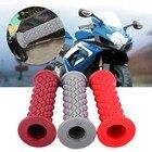 ✔  1 пара 22 мм 7/8 дюймов мотоцикла модифицированного алмазно-резинового руля декоративные рукоятки 3  ★