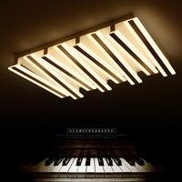 Новый дизайн пианино постмодерсветодио дный н светодиодные потолочные светильники прямоугольник пульт дистанционного управления потолоч