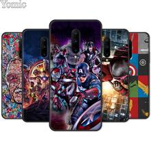 Deadpool Iron Man Marvel Avengers Black Case for Oneplus 7 7 Pro 6 6T 5T Silicone Phone Case for Oneplus 7 7Pro Soft Cover Shell